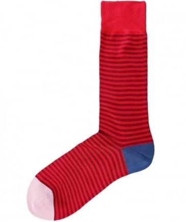 Two Tone Striped Socks