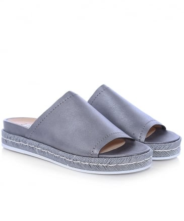 Metallic Leather Maraja Sliders