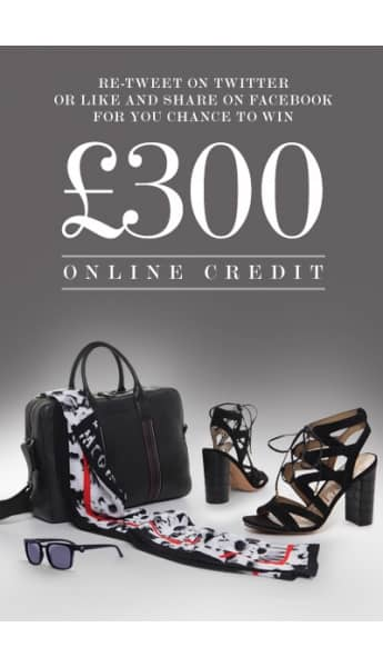 WIN! £300 ONLINE CREDIT TO SPEND ON NEW SEASON SS ' 16 STOCK