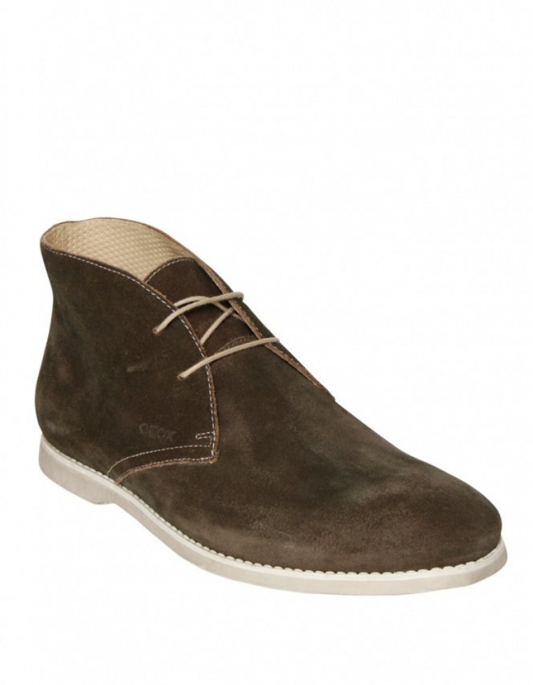geox s suede chukka boots in brown jules b