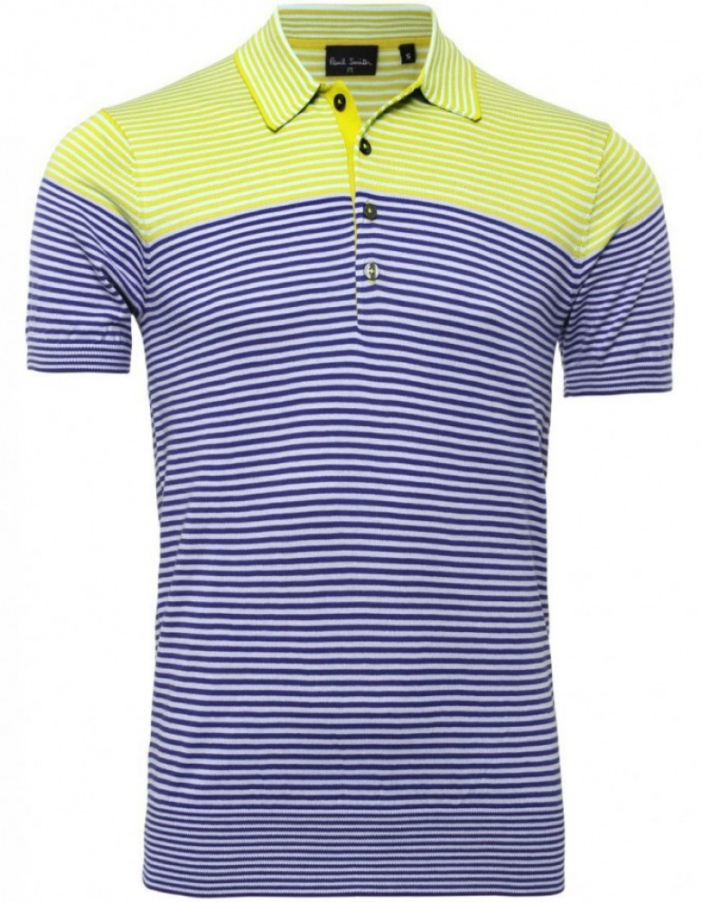 PS by Paul Smith Knitted Striped Polo Shirt  ca56ca831e6f