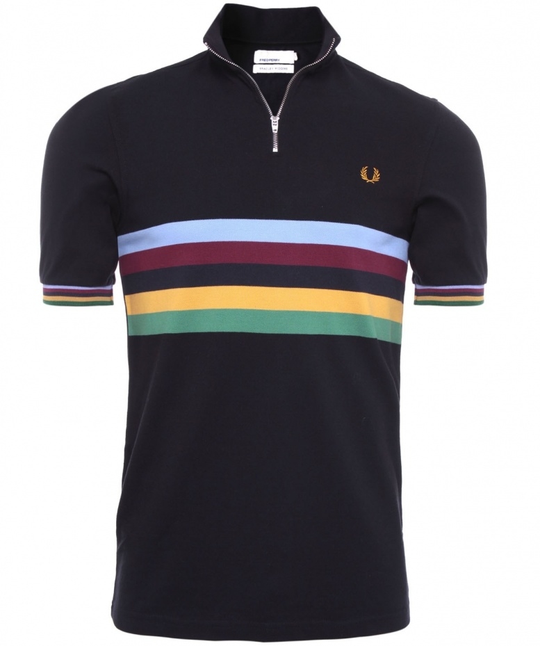 Fred Perry Bradley Wiggins Black Champion Striped Cycling Shirt available  at Jules B de5e6e78d