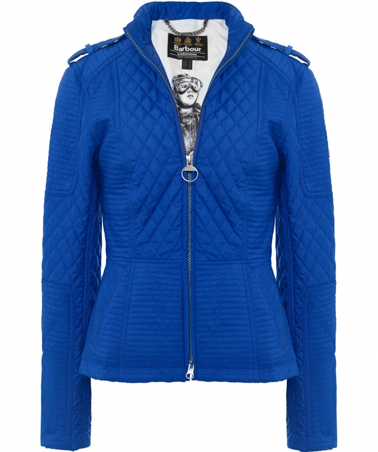 Women S Barbour Extractor Leather Trim Quilted Jacket