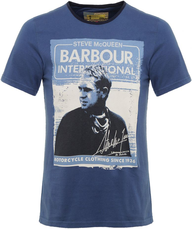 barbour steve mcqueen fowler t shirt available at jules b. Black Bedroom Furniture Sets. Home Design Ideas