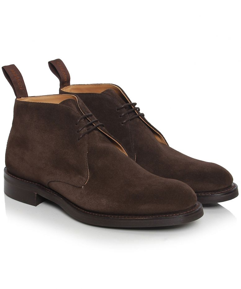 3eb46508e30d Cheaney & Sons Brown Jackie suede Boots available at Jules B