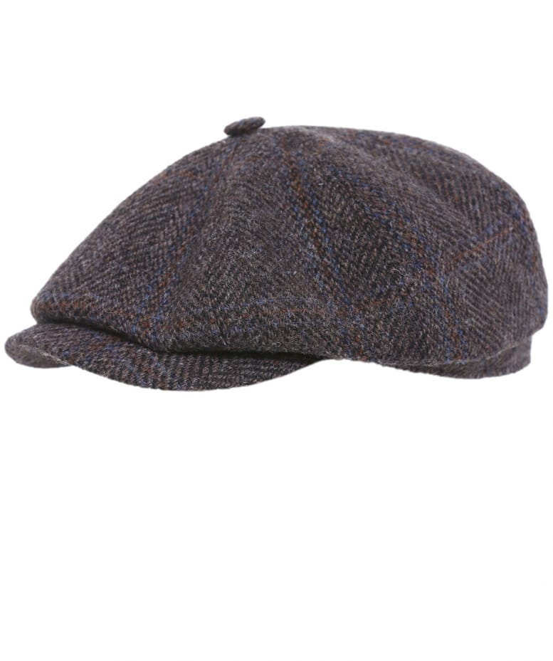 3ca531aeee9 Stetson Brown Hatteras Harris Tweed Cap