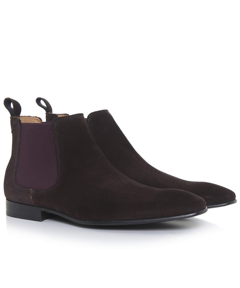 dbf128dfbb3b Paul Smith Brown Suede Falconer Boots | Jules B