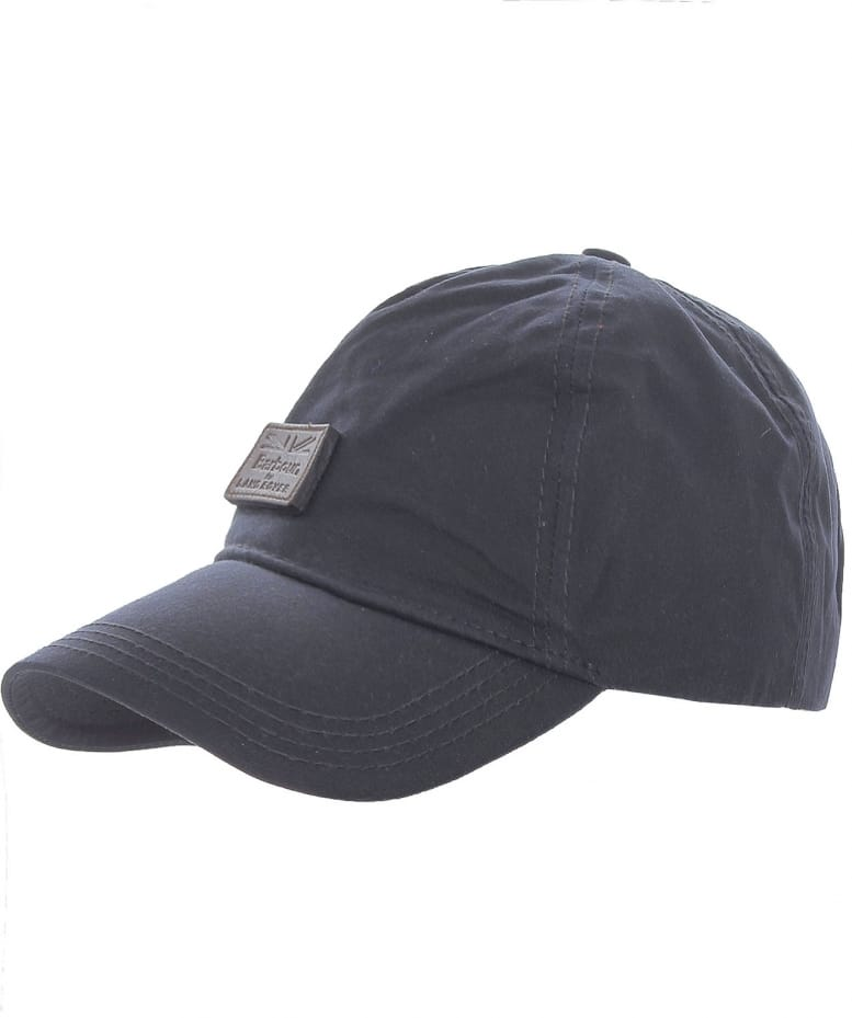 1f666fbbb9e Barbour Navy Leather Wax Sports Cap