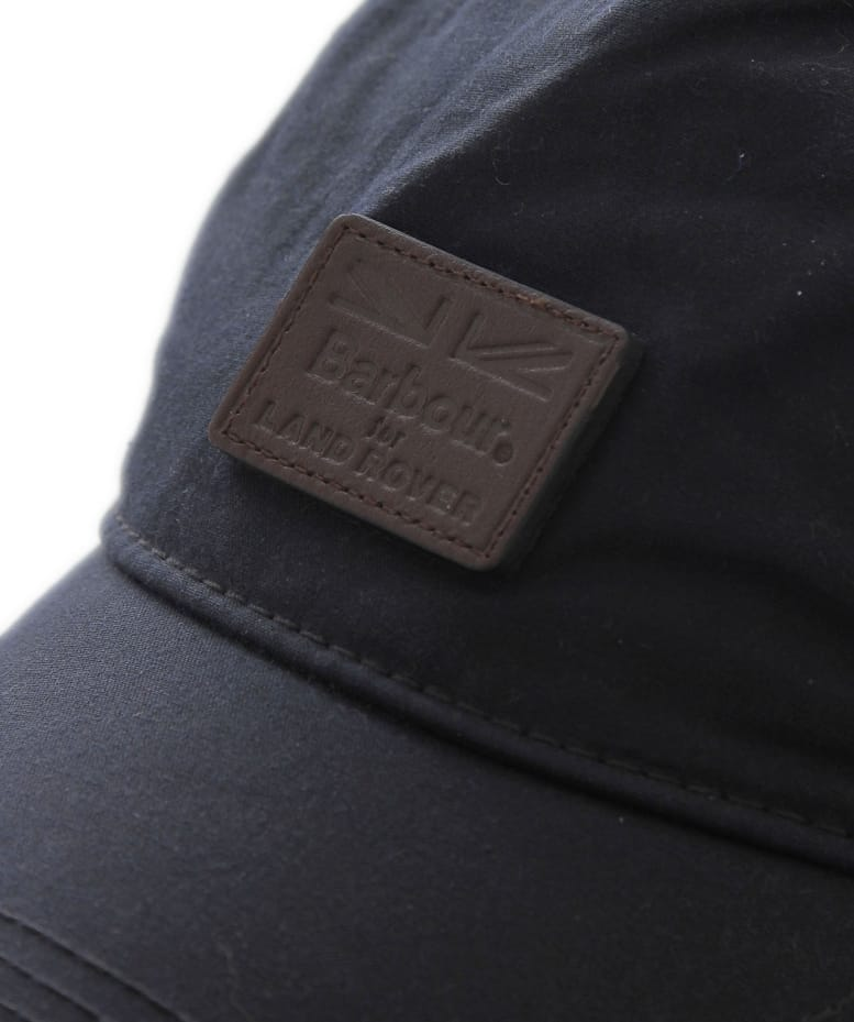 e628b09095a Barbour Navy Leather Wax Sports Cap