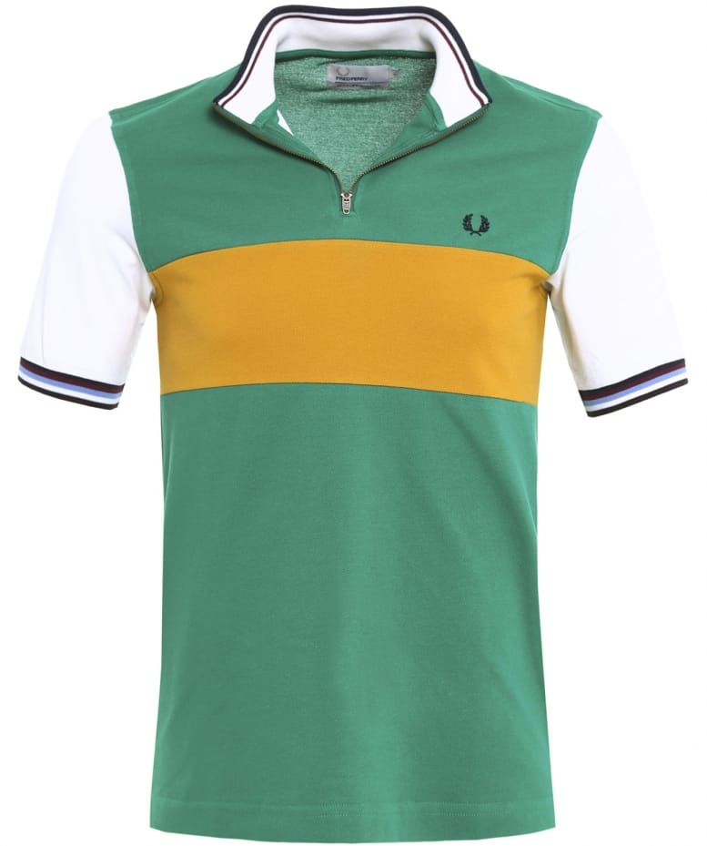 Fred Perry Alpine Bradley Wiggins Colour Block Cycling Shirt  833d79511
