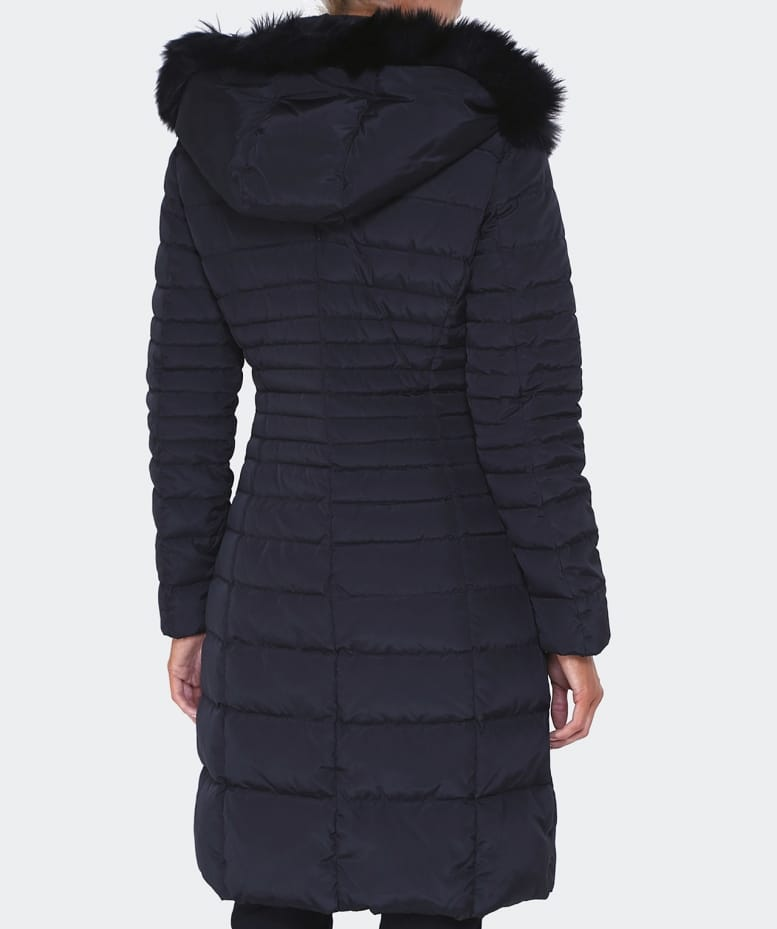 ae7af71ed9f0 Armani Jeans Black Long Down Quilted Coat   Jules B