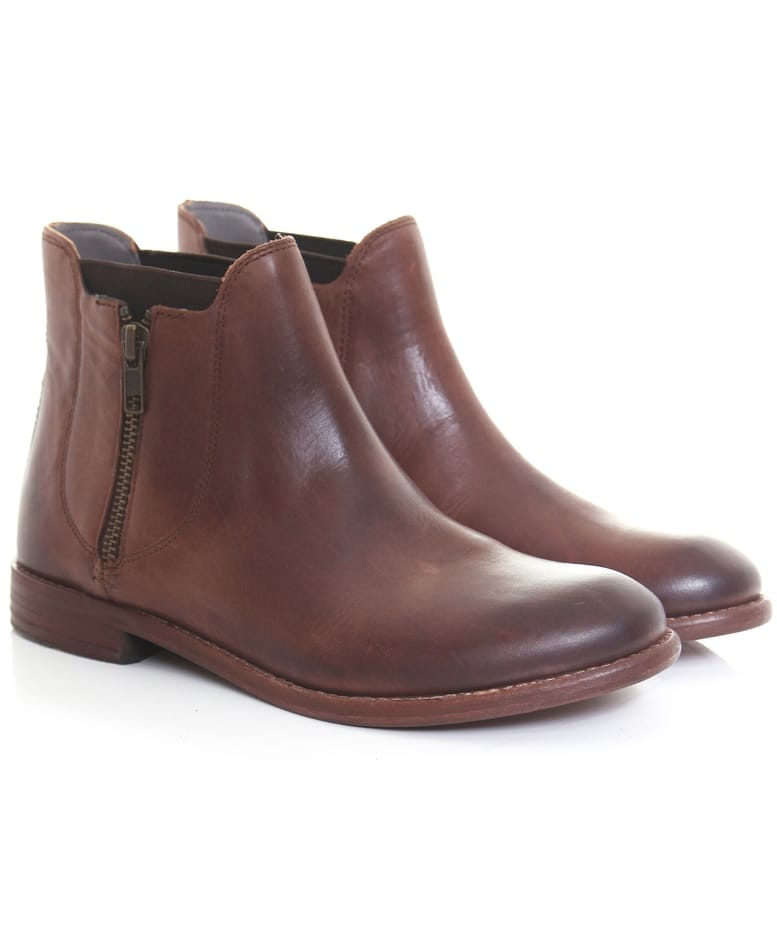 H by Hudson Brown Algoma Leather Ankle Boots  a9b61934f