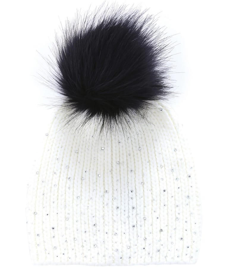 Gebeana Knitted Diamante Bobble Hat  6fe6ad92790