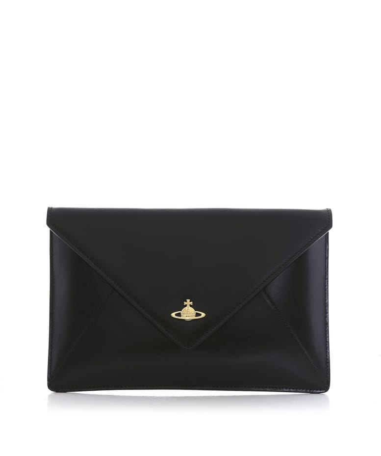 8e83e38c259b Vivienne Westwood Black Envelope Clutch Bag
