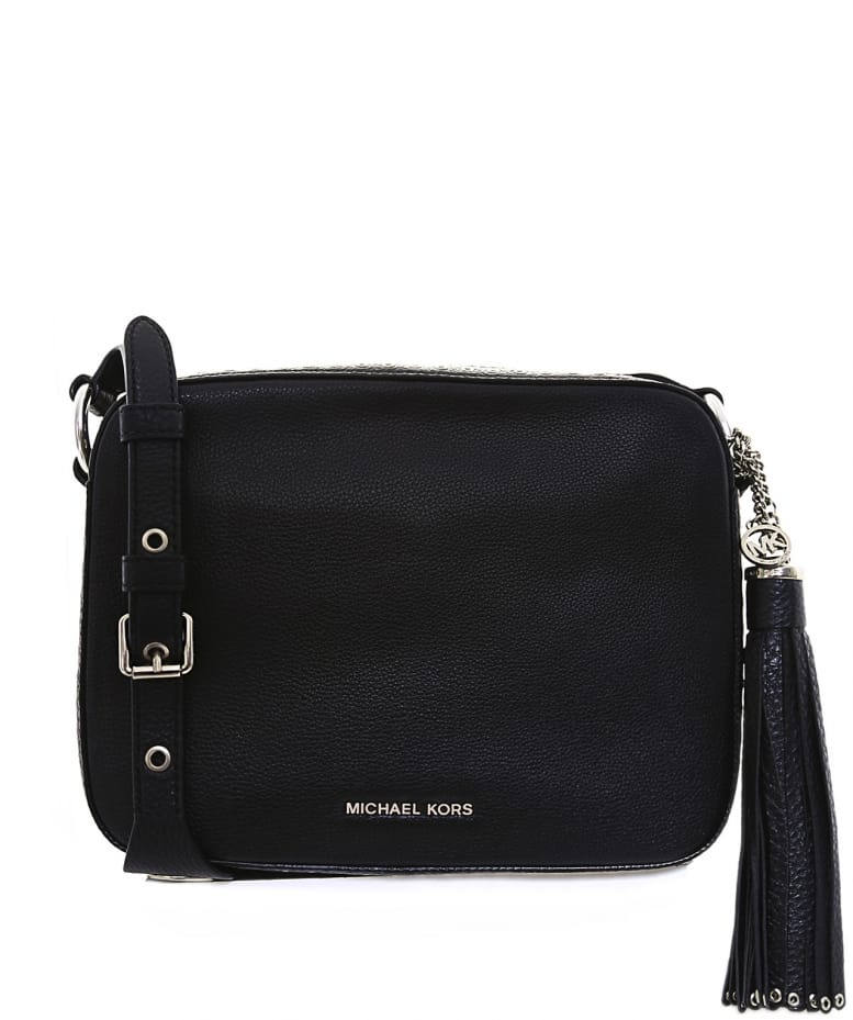 988b1b598fed MICHAEL Michael Kors Black Brooklyn Leather Cross Body Bag | Jules B