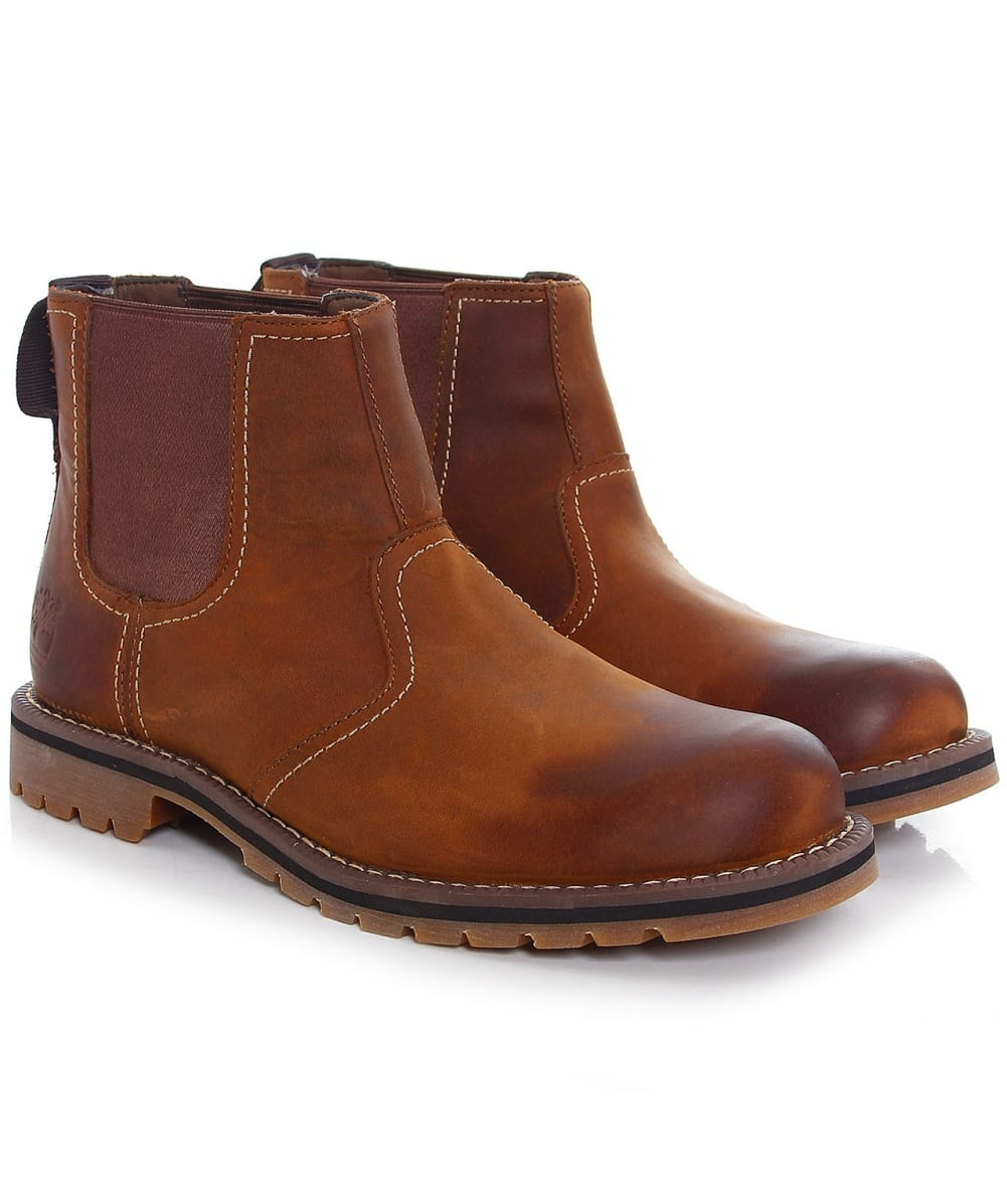 Timberland Brown Leather Larchmont Chelsea Boots Jules B