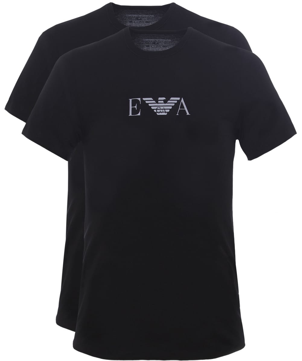 d62ccca39347 Emporio Armani Black Two Pack of Crew Neck T-Shirts | Jules B