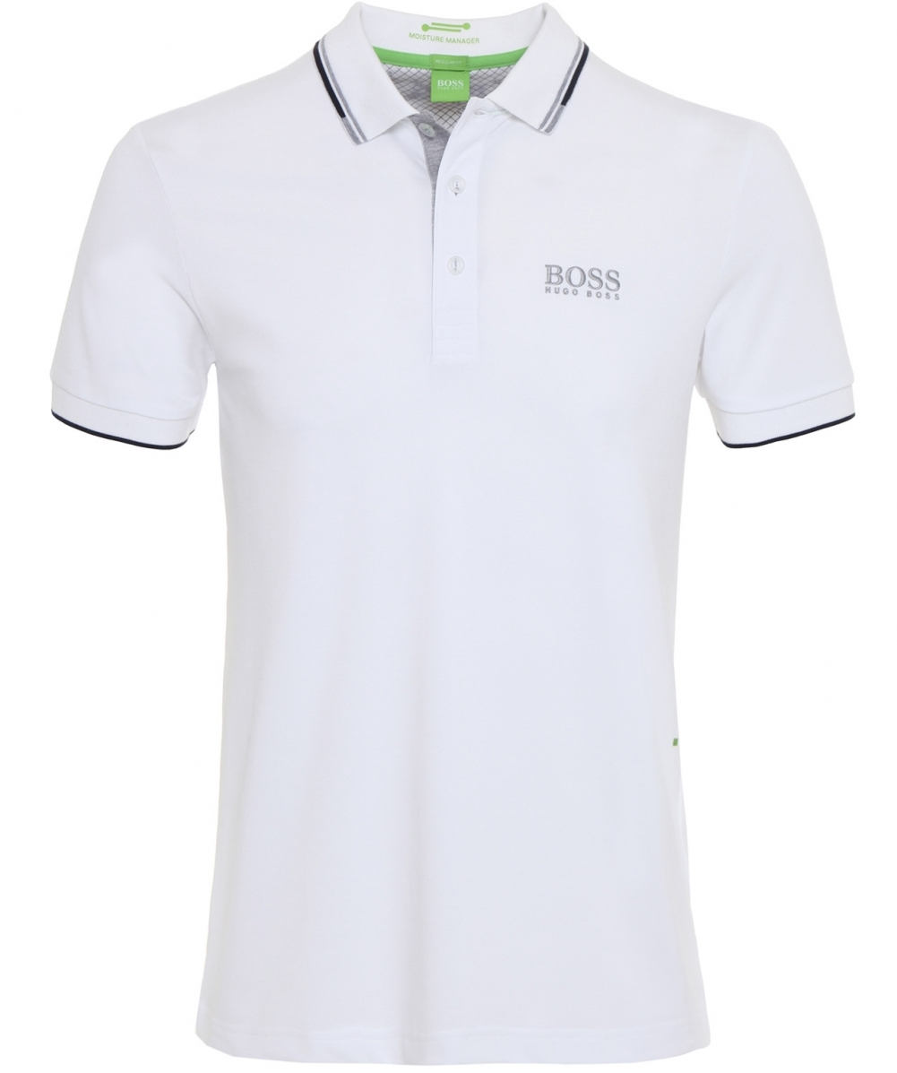 aa1759124 Hugo Boss White Regular Fit Paddy Pro Polo Shirt | Jules B