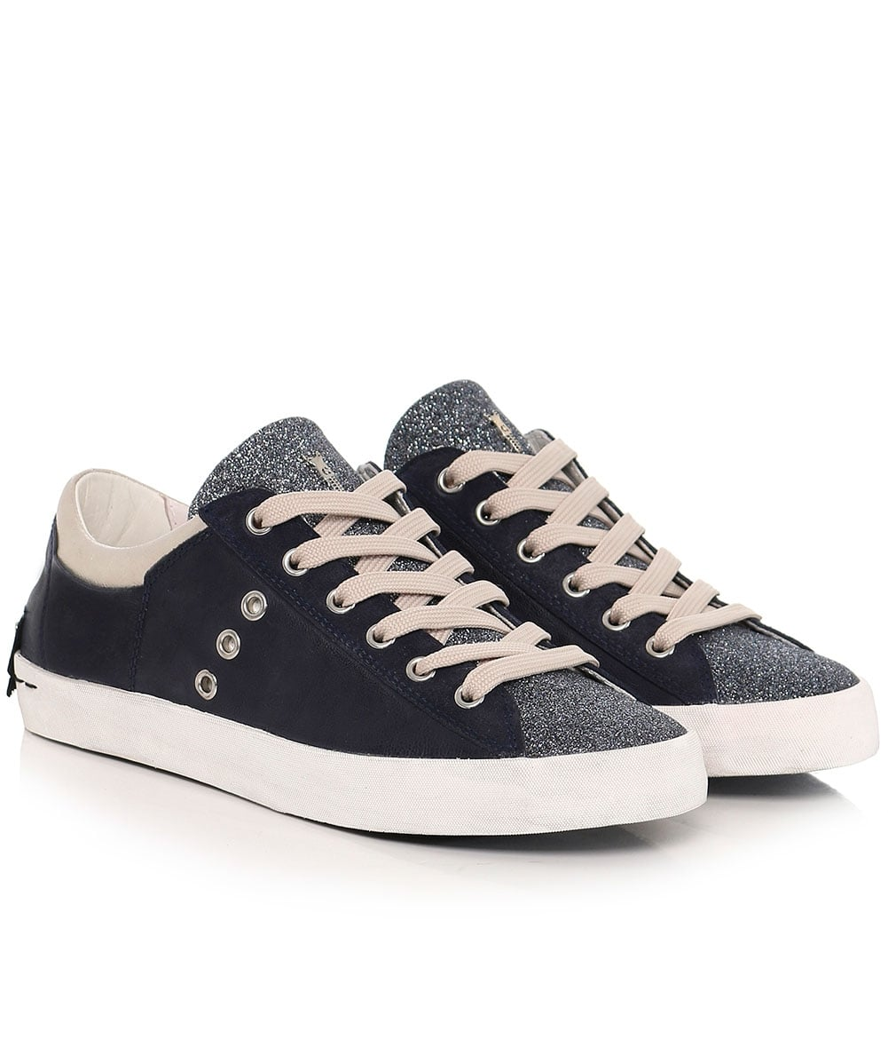 Crime London Glitter Low Top Trainers  5f696feb381