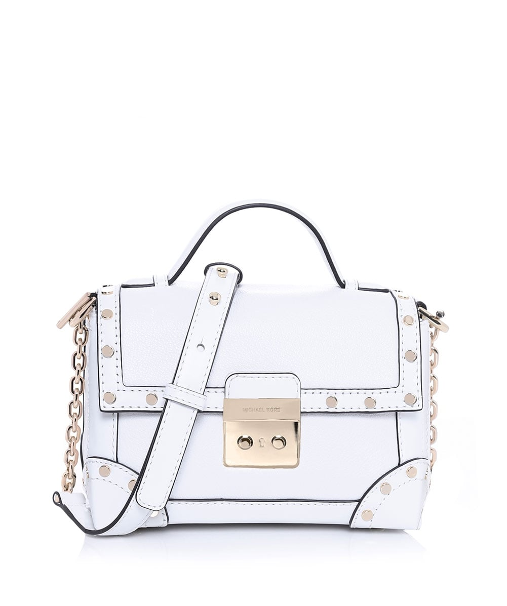 a3c75450b99fc MICHAEL Michael Kors White Cori Small Leather Bag