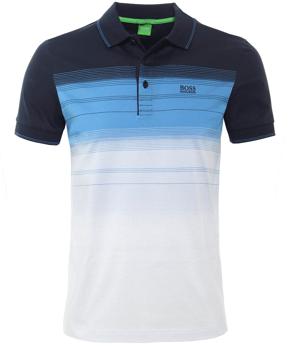 983413387 BOSS Green Regular Fit Striped Paddy 3 Polo Shirt | Jules B