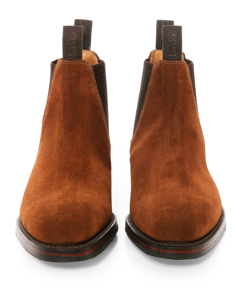 168b560edf9 Loake Suede Chatsworth Chelsea Boots