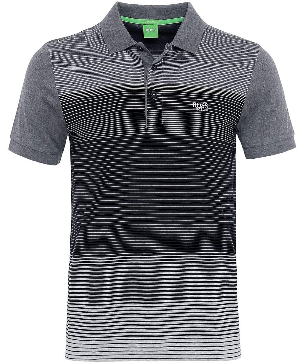 8da3707f1 BOSS Green Jersey Striped Paddy 3 Polo Shirt | Jules B