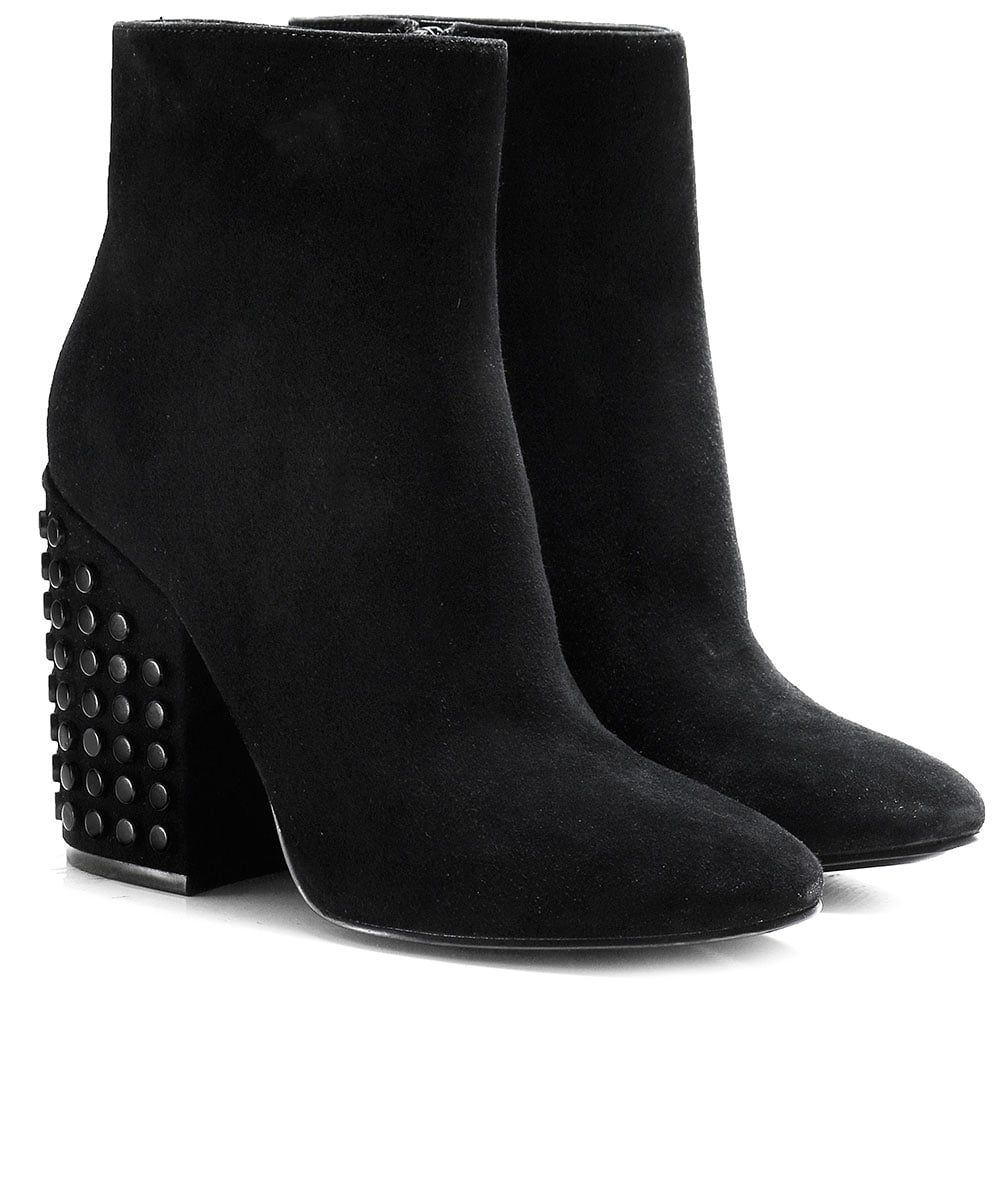 1ed822c6785 Kendall and Kylie Suede Studded Heel Ankle Boots
