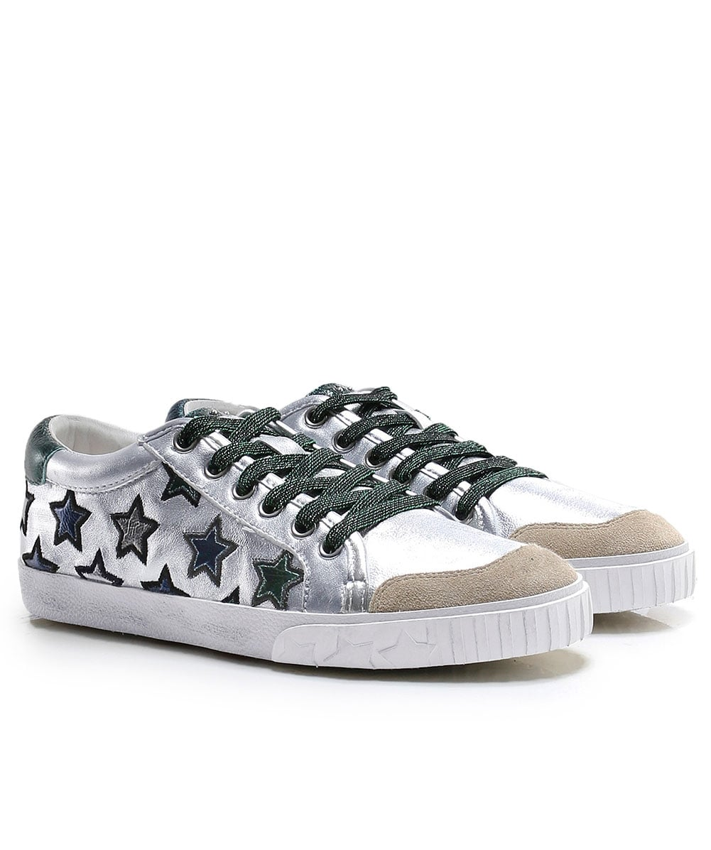 Metallic Leather Majestic Trainers