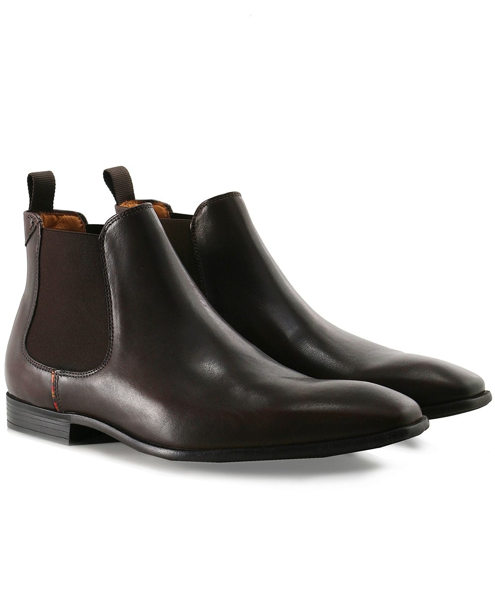 7e378f957331 PS by Paul Smith Dark Brown Leather Falconer Chelsea Boots | Jules B