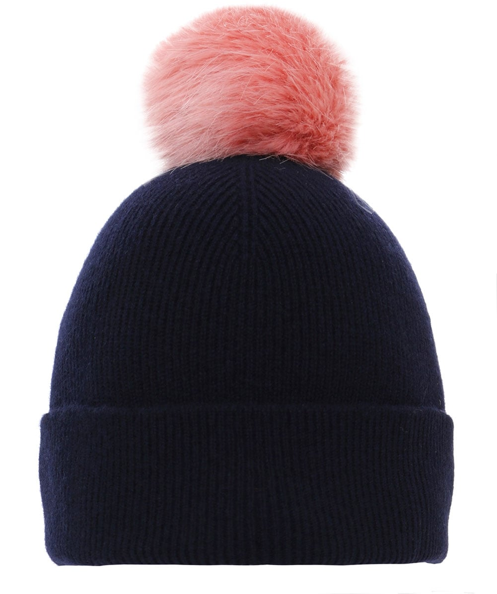 PS By Paul Smith Blue Lambswool Bobble Hat  36f44675860