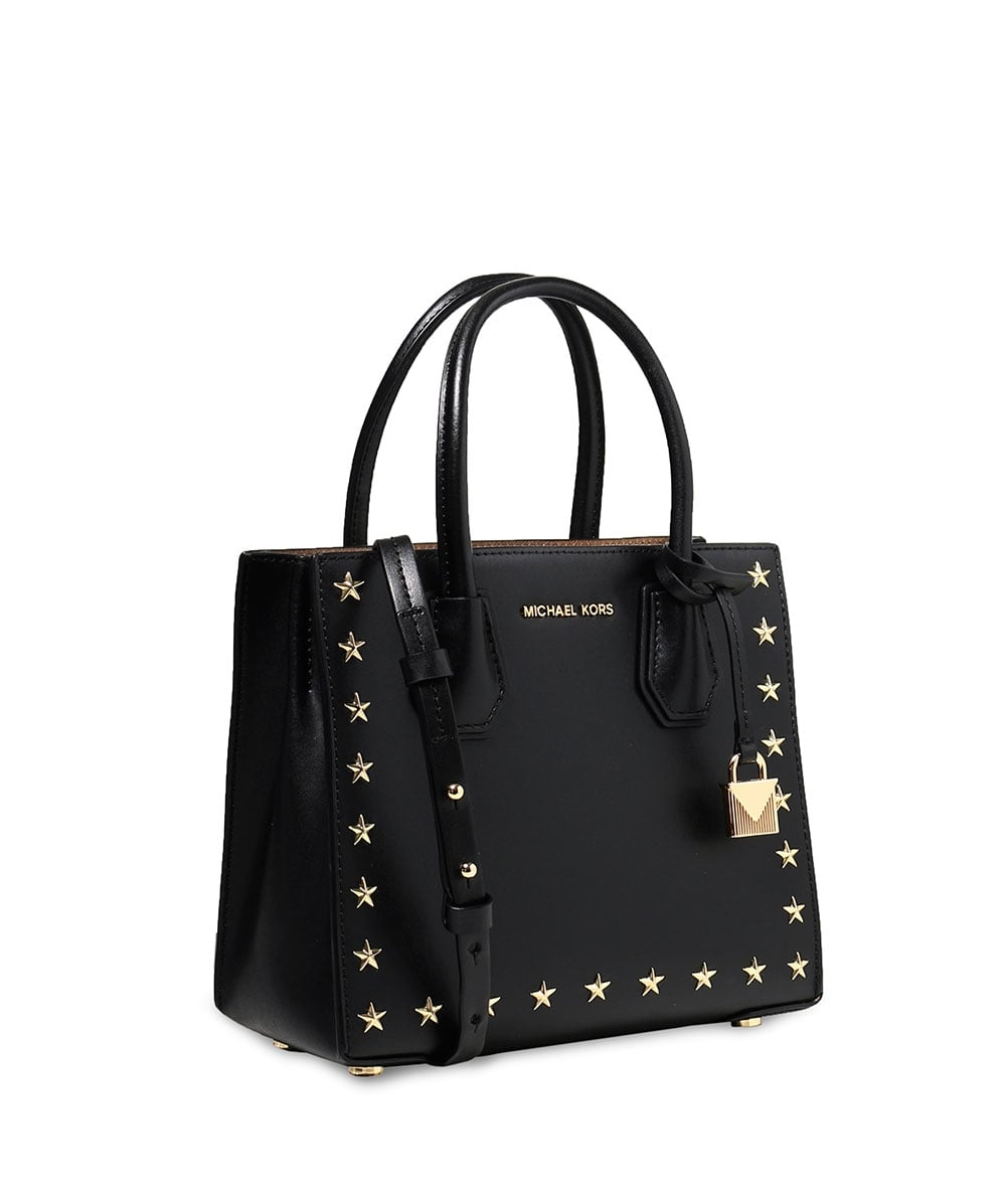 2ef14993af10 MICHAEL Michael Kors Black Leather Studded Mercer Bag