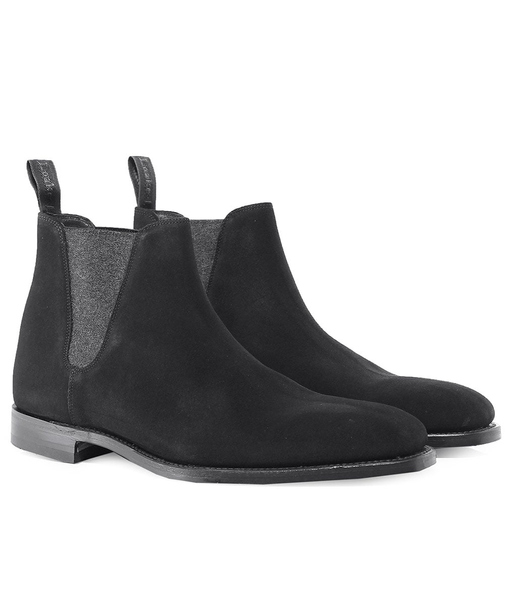102ec362a571f8 Loake Black Suede Caine Chelsea Boots