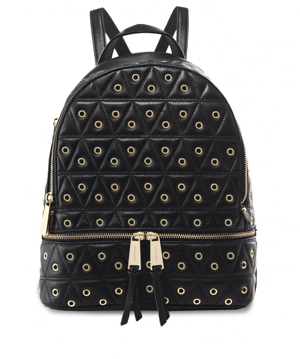 49379ad1fa05d5 MICHAEL Michael Kors Grommet Leather Rhea Quilted Backpack | Jules B