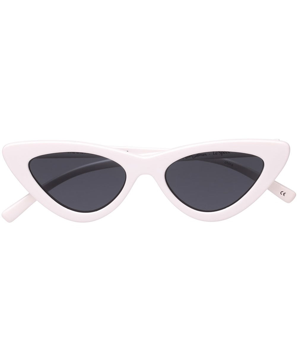 edcdede6a2c Le Specs White The Last Lolita Sunglasses