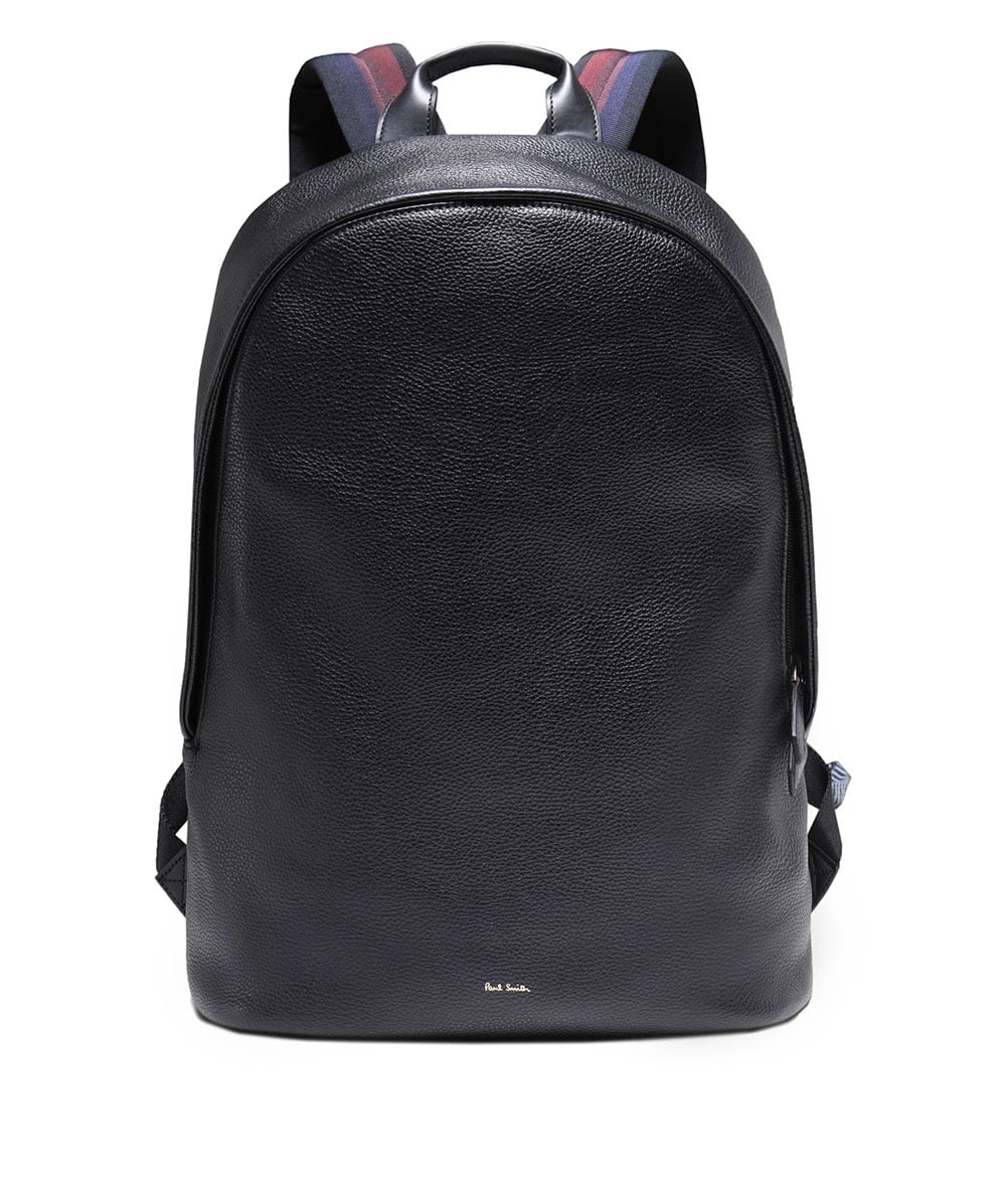 5e2fd7c26a Paul Smith Black Leather City Webbing Backpack