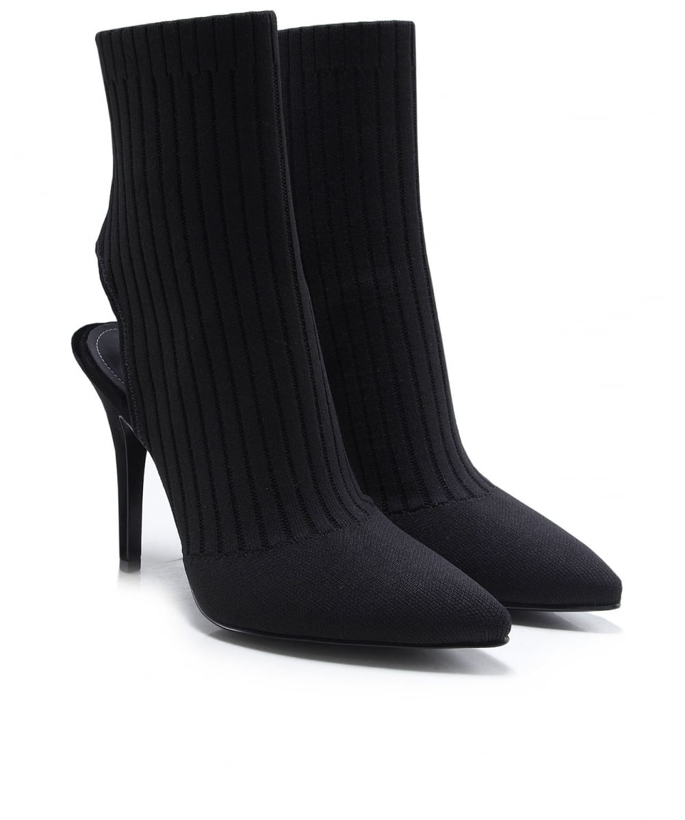 1472337f7 Kendall and Kylie Black Adrian Knitted Sock Boots | Jules B