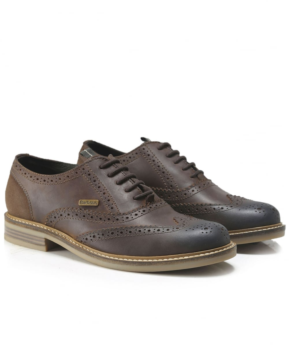 Barbour Dark Brown Leather Redcar Oxford Brogues Jules B