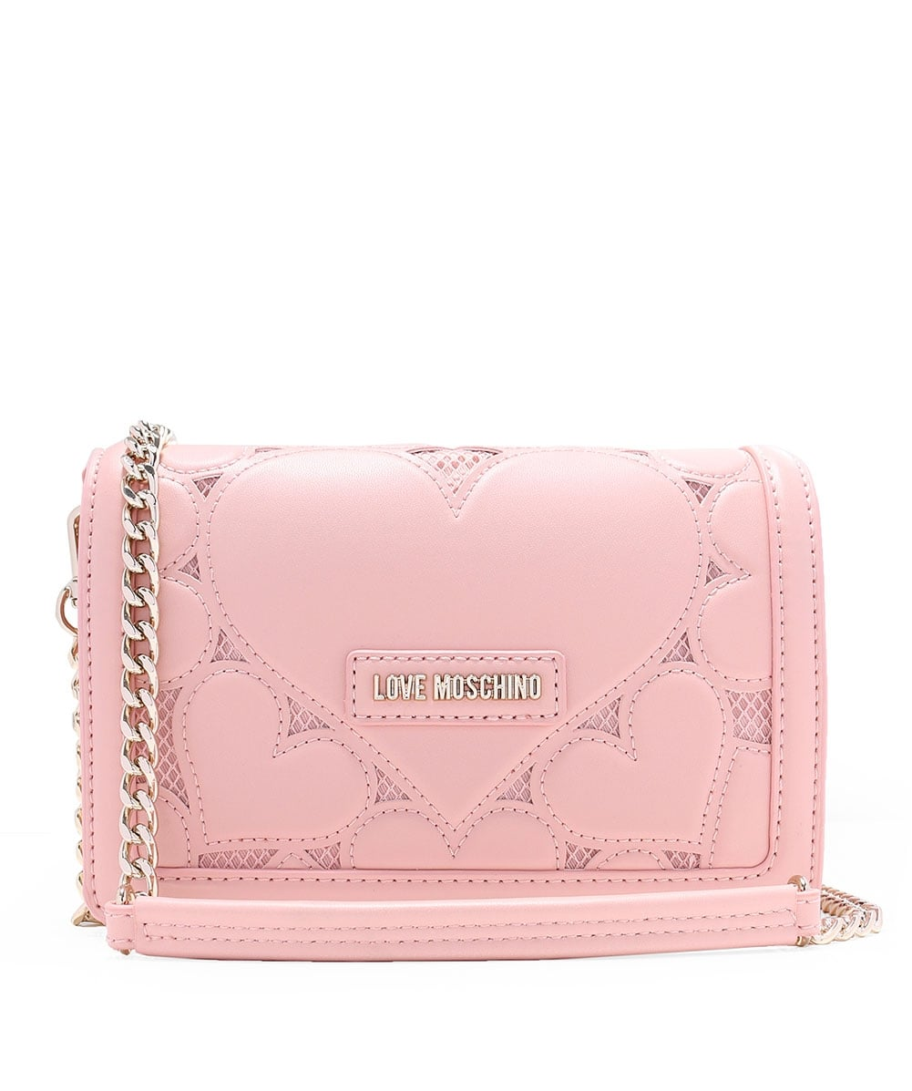ac024982df Love Moschino Pink Leather Fold Over Clutch Bag | Jules B