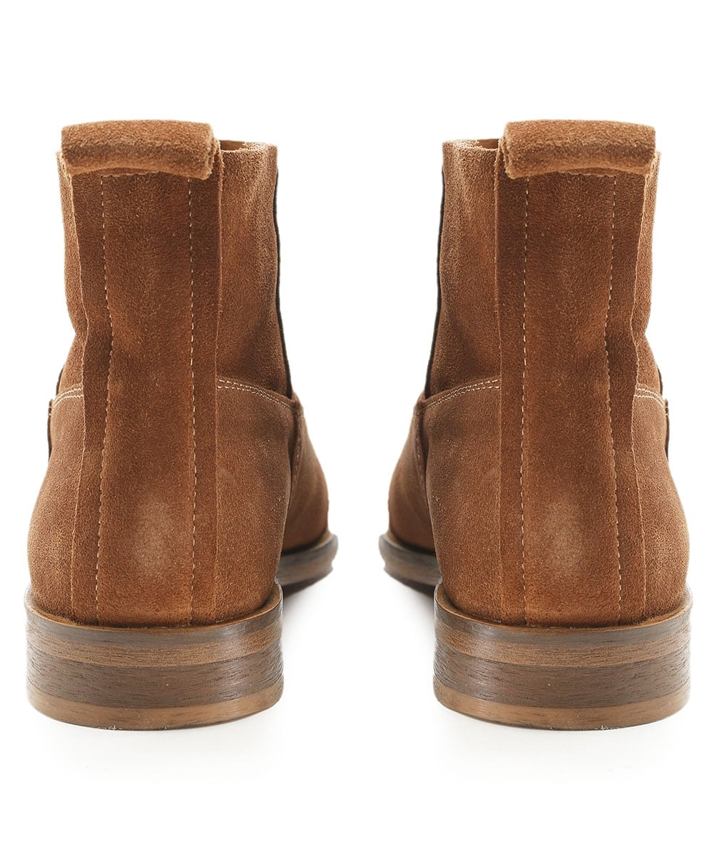 ed2a6aedd1e49 H by Hudson Tan Suede Odina Ankle Boots