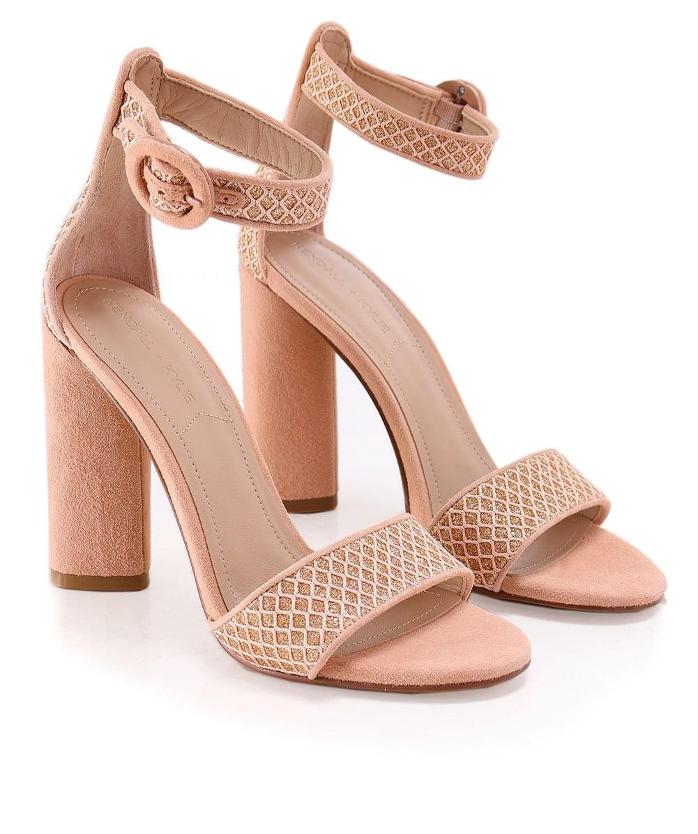 be4c3d2b54 Kendall and Kylie Nude Suede Giselle Ankle Strap Sandals