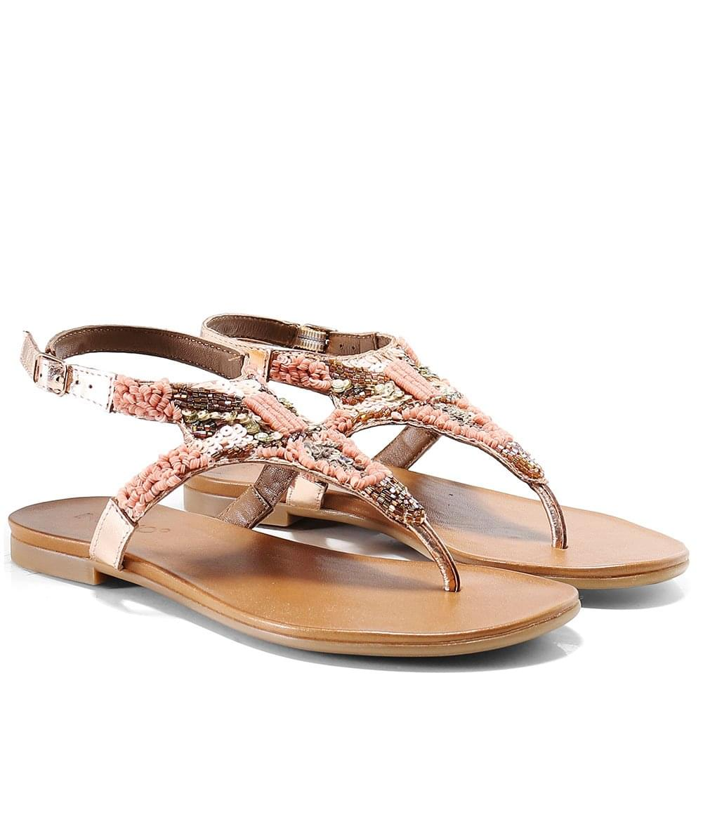 Inuovo Rose Gold Toe Post Sandals   Jules B