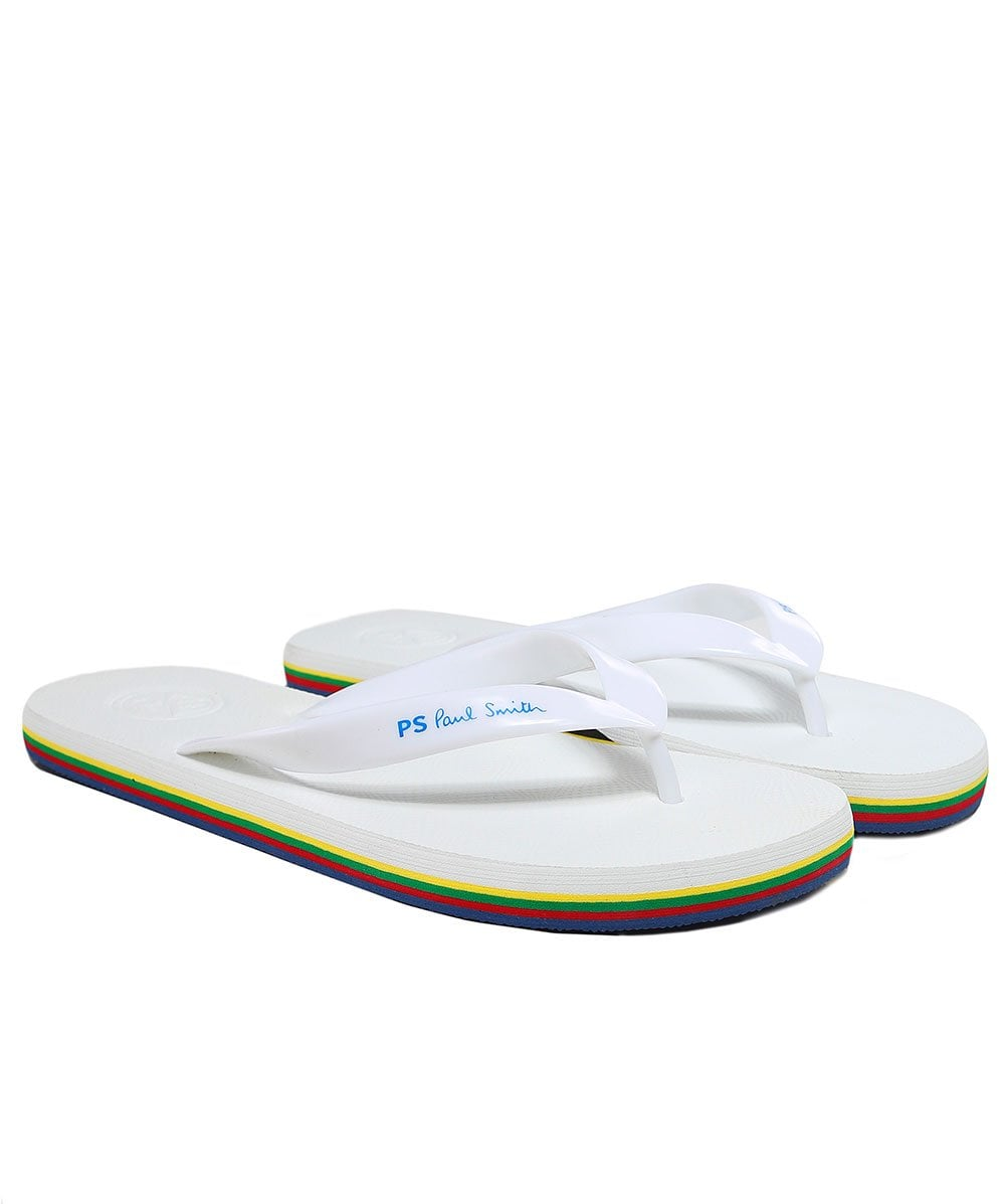 PS by Paul Smith White Dale Flip Flops