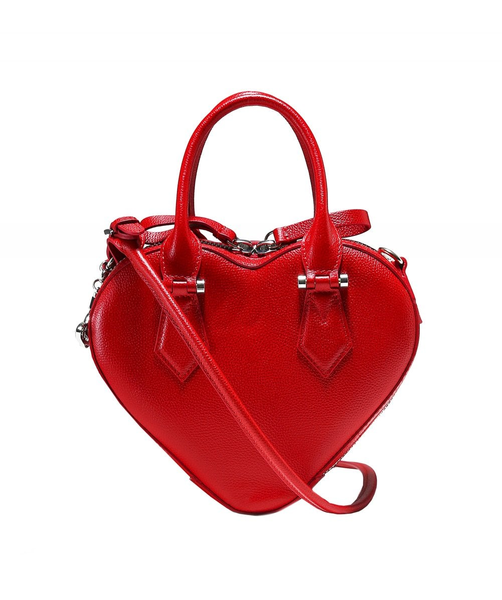 4ef79f65d9 Vivienne Westwood Accessories Red Johanna Heart Handbag