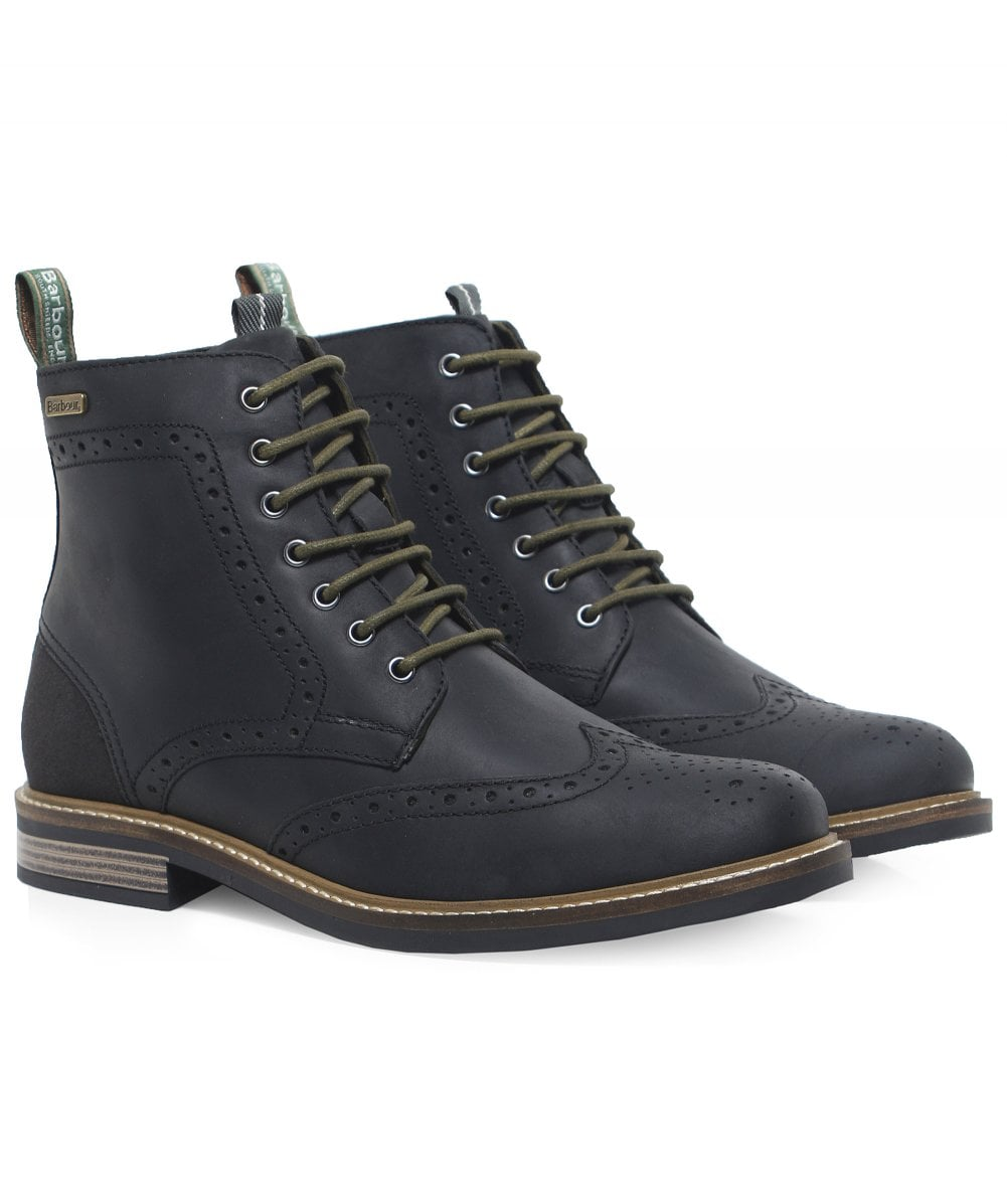 a8be6e62bb3 Barbour Leather Belsay Brogue Boots