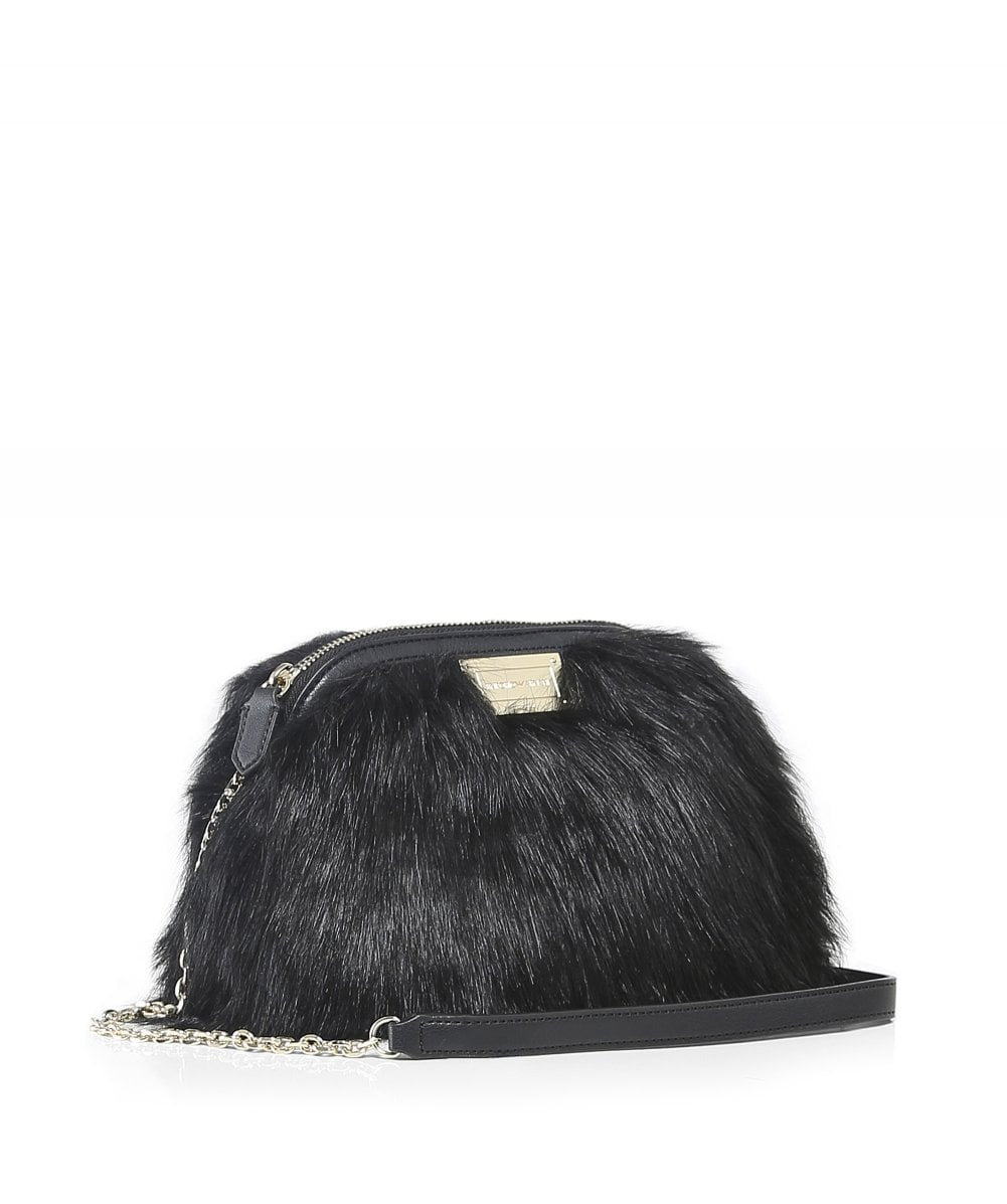 fa2301a51 Emporio Armani Black Fluffy Cross-Body Bag | Jules B