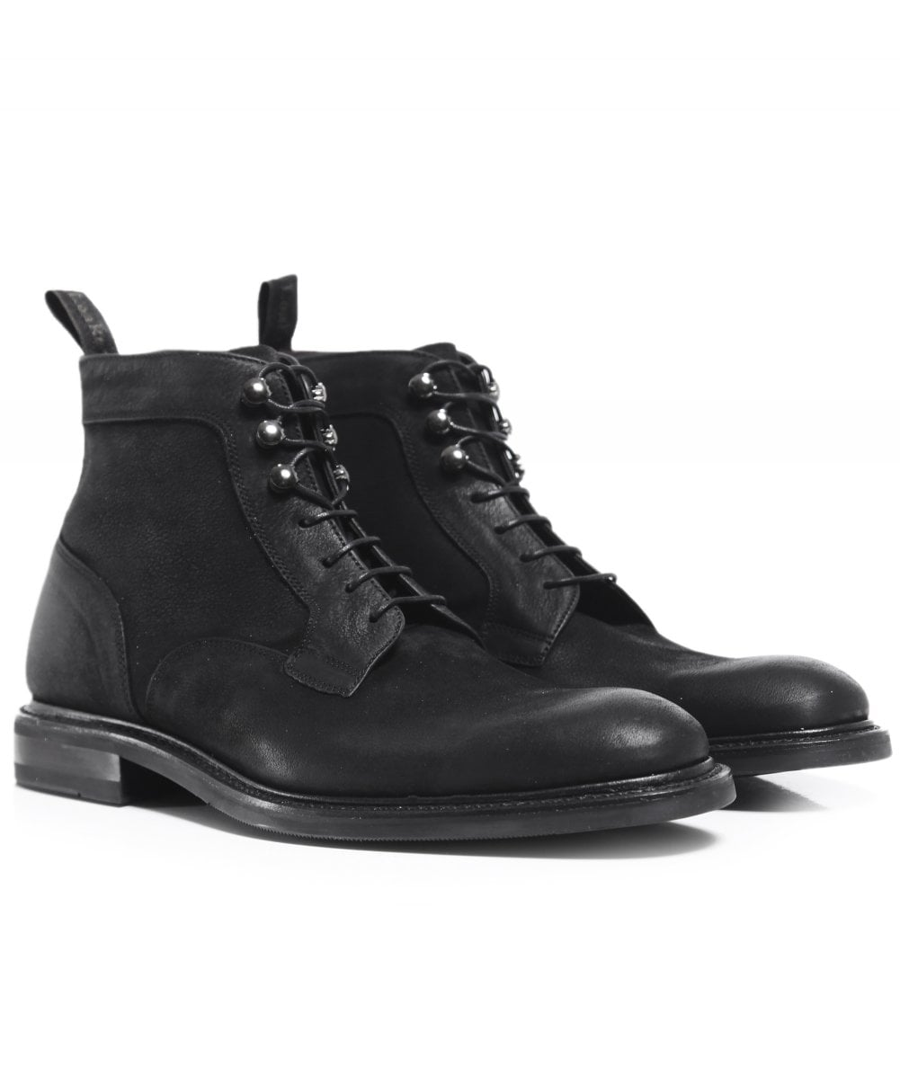 bceaba6a285 Loake Black Leather Crow Boots