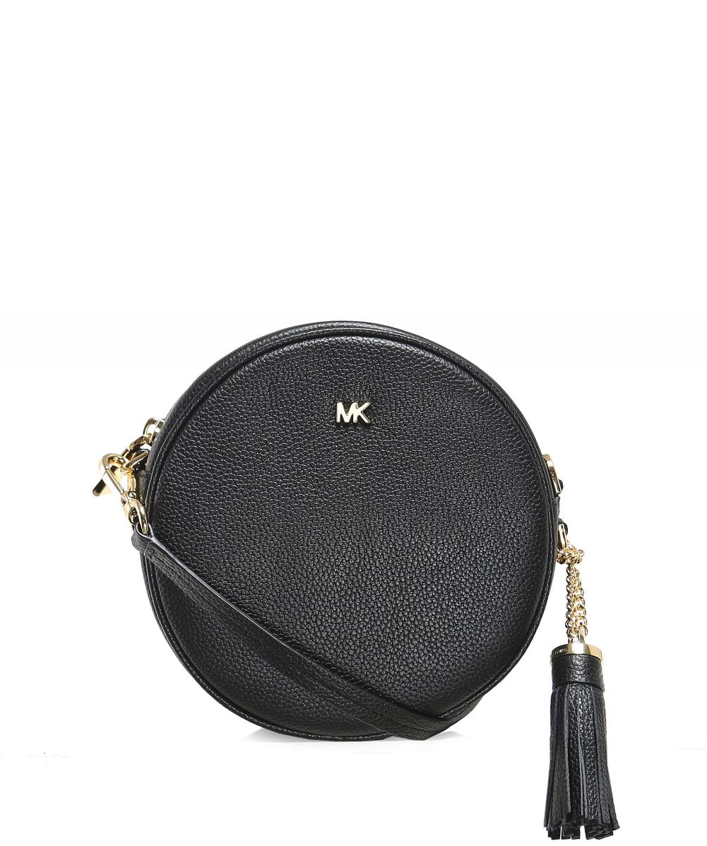 dd50ff05c195 Michael Kors Black Pebbled Leather Canteen Crossbody Bag