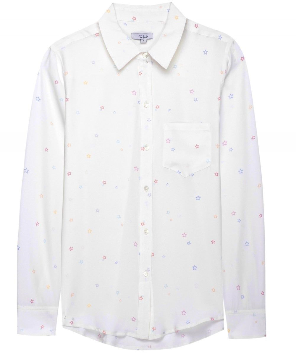 e7114c48ba075b Rails White Silk Kate Pastel Star Print Shirt | Jules B