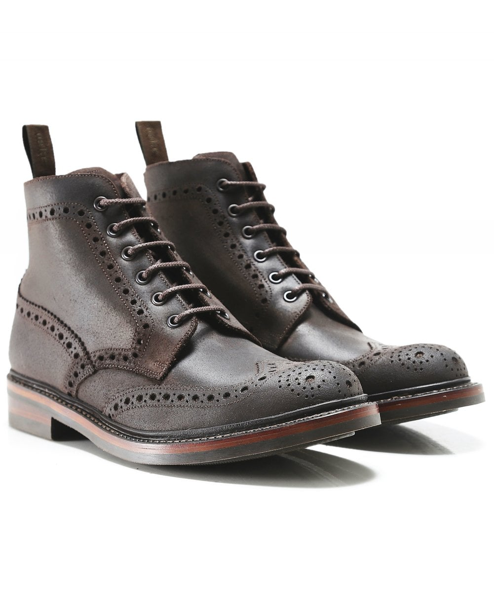 Loake Dark Brown Waxed Leather Bedale